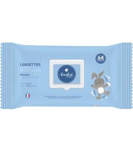 Lingettes bébé x 64 - Ainsifont