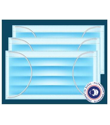 Masques barrière polypropylene 15 lavages – Lot de 3